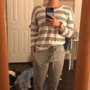 3/4 sleeve striped aerie shirt